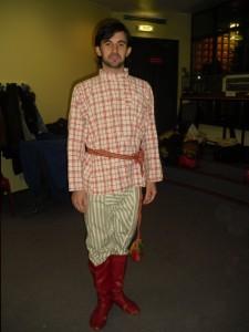 costume d'homme, région de Koursk